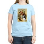 Flowers & Tri Cavalier Women's Light T-Shirt