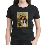 Flowers & Tri Cavalier Women's Dark T-Shirt