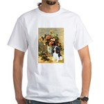 Flowers & Tri Cavalier White T-Shirt
