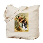 Flowers & Tri Cavalier Tote Bag