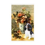 Flowers & Tri Cavalier Sticker (Rectangle)