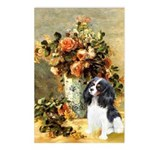 Flowers & Tri Cavalier Postcards (Package of 8)