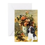 Flowers & Tri Cavalier Greeting Cards (Pk of 10)