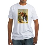 Flowers & Tri Cavalier Fitted T-Shirt