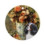 Flowers & Tri Cavalier Ornament (Round)