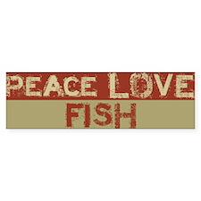 Peace Love Fish BS Bumper Bumper Sticker
