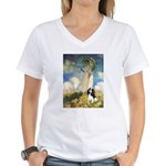 Umbrella / Tri Cavalier Women's V-Neck T-Shirt