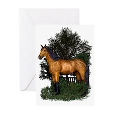 Buckskin Horse in Woodland Greeting Card