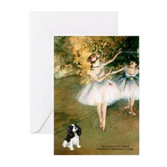 2 Dancers & Tri Cavalier Greeting Cards (Pk of 10)