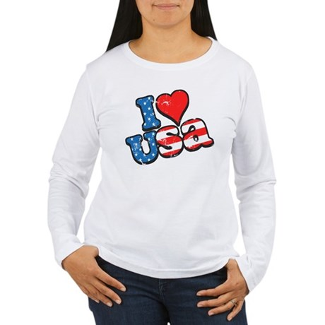 I Love USA Women's Long Sleeve T-Shirt