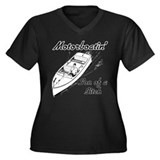 MotorBoatin Women's Plus Size V-Neck Dark T-Shirt