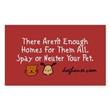 Too Few Homes Spay & Neuter Rectangle Decal