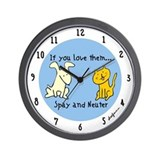 You Love Them Spay & Neuter Wall Clock