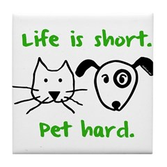 Pet Hard (Pets) Tile Coaster