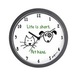 Pet Hard (Pets) Wall Clock