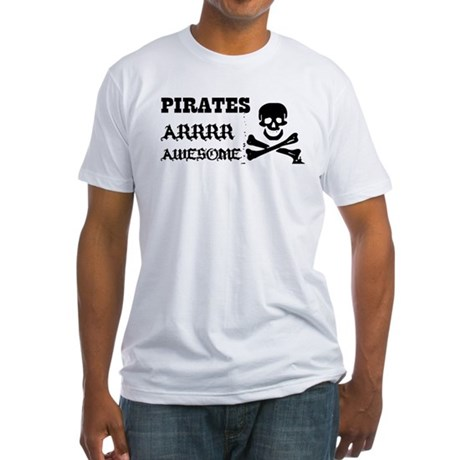 Pirates Arrr Awesome Fitted T-Shirt