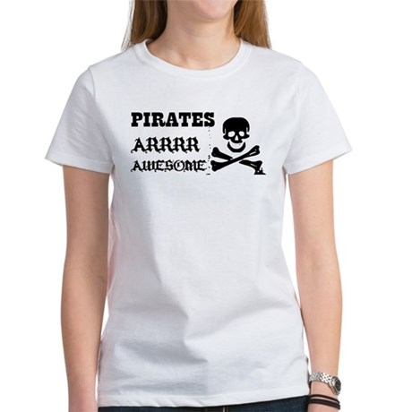 Pirates Arrr Awesome Women's T-Shirt
