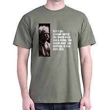 "Twain ""World Owes"" T-Shirt"