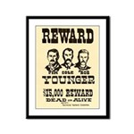 Wanted The Youngers Framed Panel Print