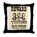 Wanted The Youngers Throw Pillow