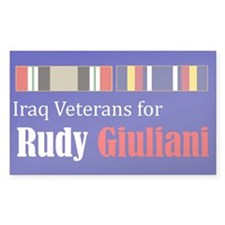 Iraq Veterans for Rudy Guiliani Bumper Decal