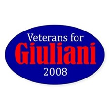 Veterans for Rudy Guiliani 2008 Bumper Decal