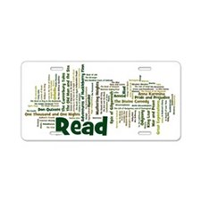Literature's Best Books Aluminum License Plate
