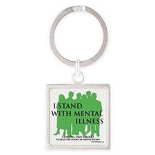 Stand With Mental Illness Square Keychain