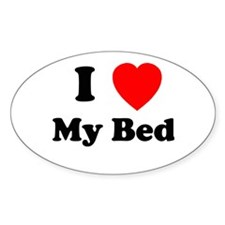 My Bed Oval Decal