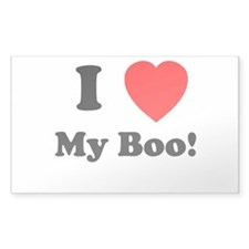 My Boo Rectangle Decal