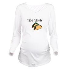 Taco Tuesday Long Sleeve Maternity T-Shirt