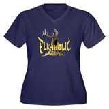Elkaholic for the Elk hunter Women's Plus Size V-N