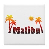 Malibu Sunrise Tile Coaster