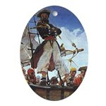 Pirate Sunset Oval Ornament