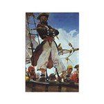 Pirate Sunset Rectangle Magnet