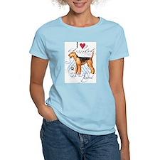 Cute Airedale terrier art T-Shirt