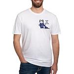 Cartoon cat Fitted T-Shirt