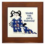 Cartoon cat Framed Tile