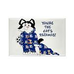 Cartoon cat Rectangle Magnet (10 pack)