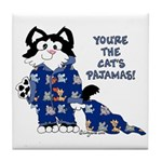Cartoon cat Tile Coaster
