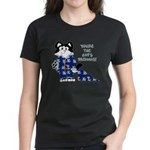 Cartoon cat Women's Dark T-Shirt