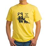 Cartoon cat Yellow T-Shirt