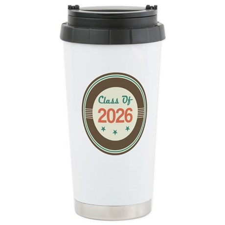 Class of 2026 Vintage Stainless Steel Travel Mug