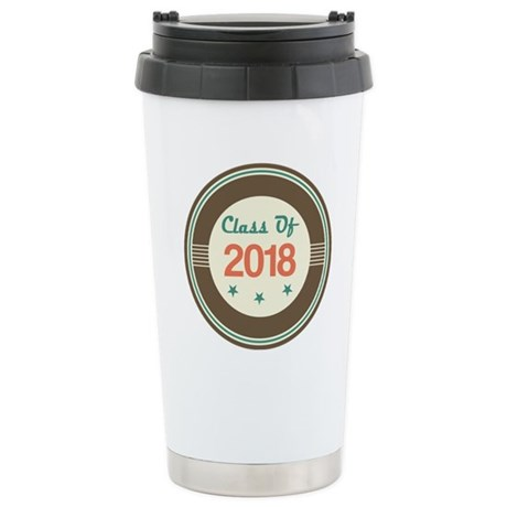 Class of 2018 Vintage Stainless Steel Travel Mug