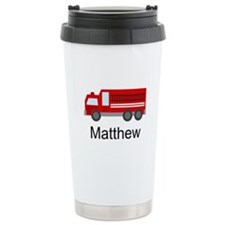 Personalized Fire Truck Travel Mug