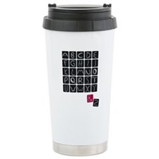 alphabet2 Travel Mug