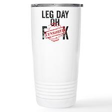 LEG DAY - WHITE Travel Mug
