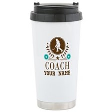 Ice Hockey Coach Personalized Travel Mug