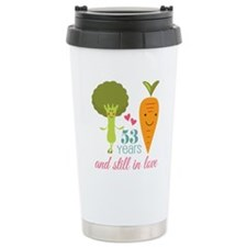 53 Year Anniversary Veggie Couple Travel Mug
