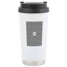 Black and White Houndstooth Travel Mug